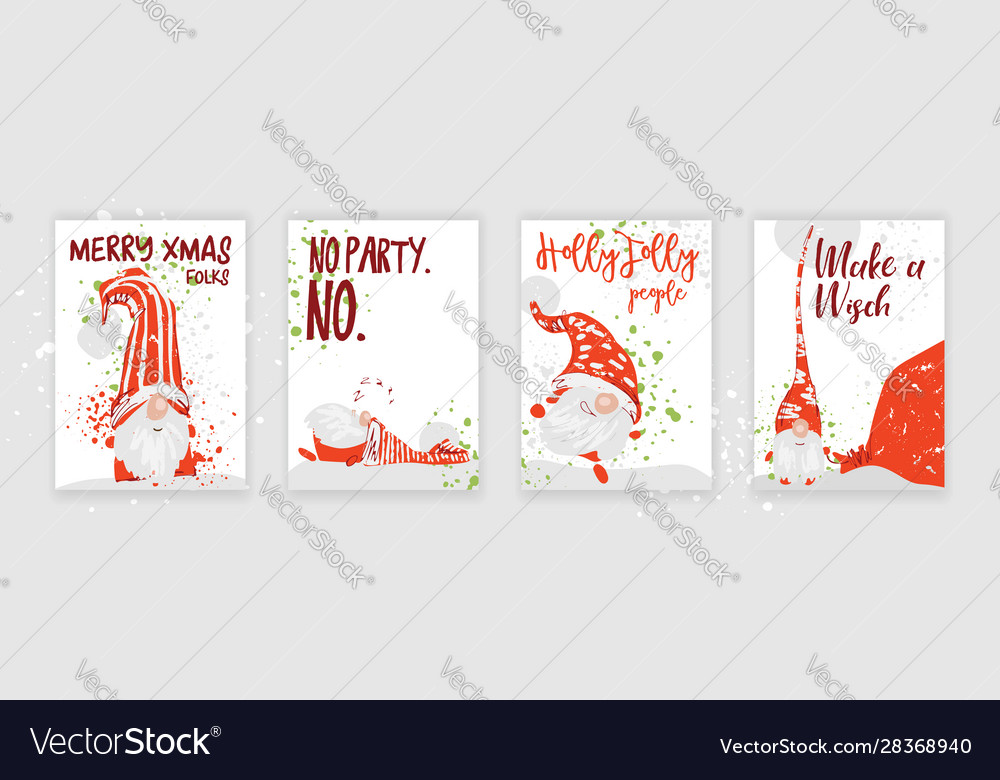 Hand drawn christmas gift and invitation card