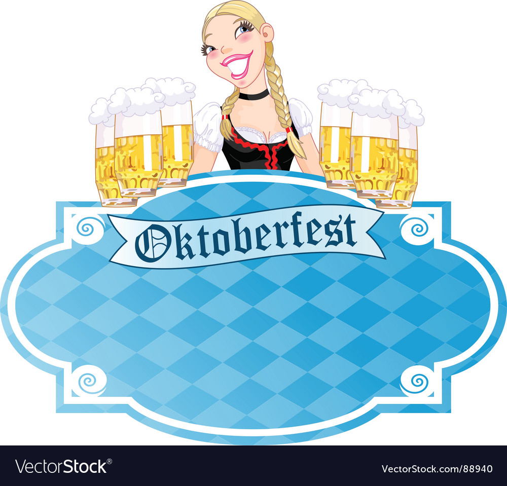 Oktoberfest invitation vector image