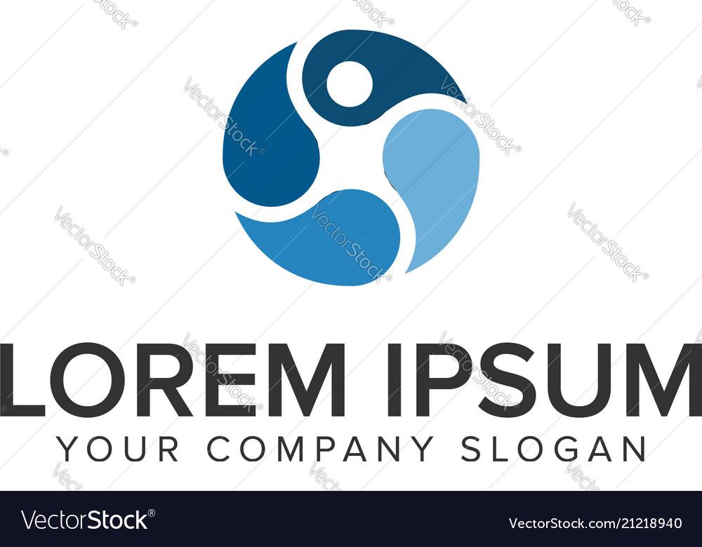 People business logo design concept template