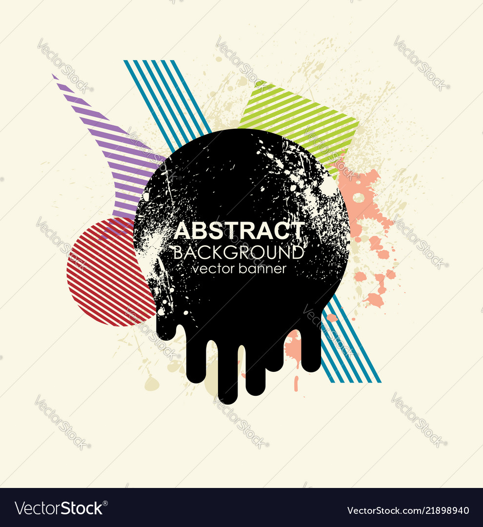 Retro design template banner flyer or poster with