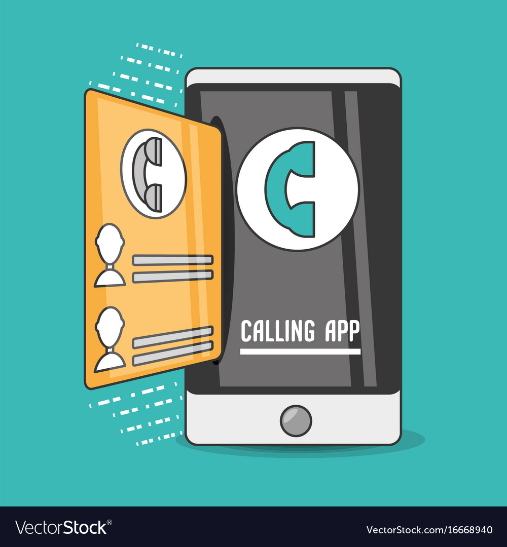 Technology smartphone with touch screen and app vector image