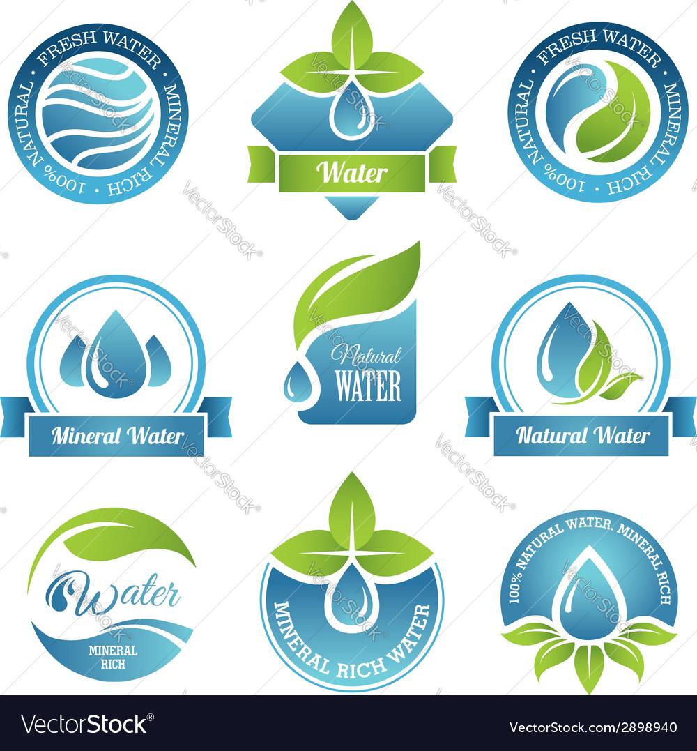 Water set2 vector image