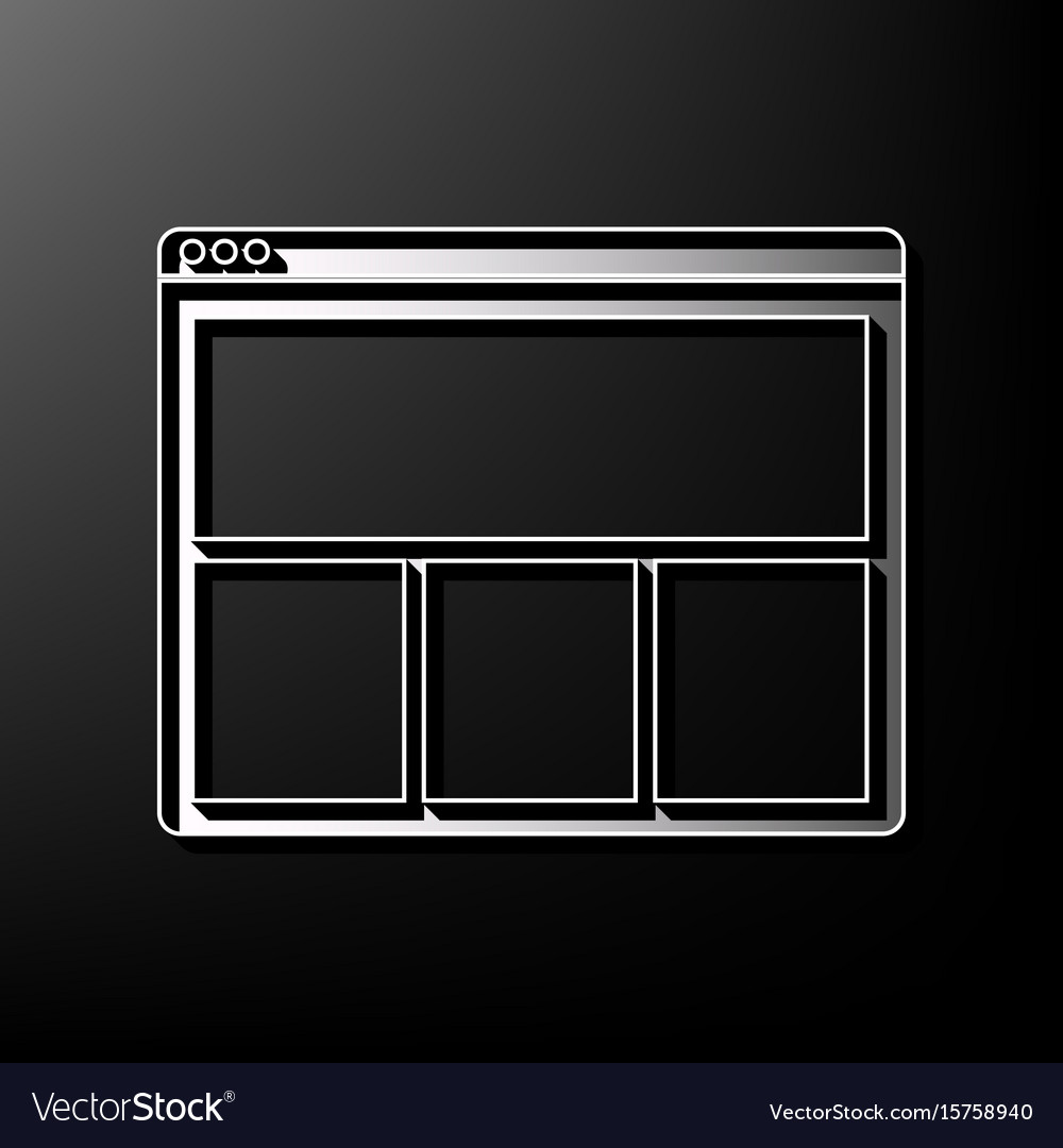 Web window sign gray 3d printed icon on