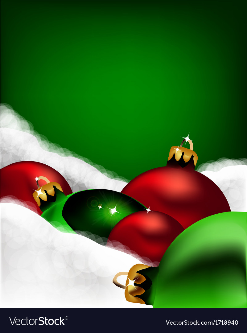 Xmas greeting card christmas red and green toys vector image m4hsunfo