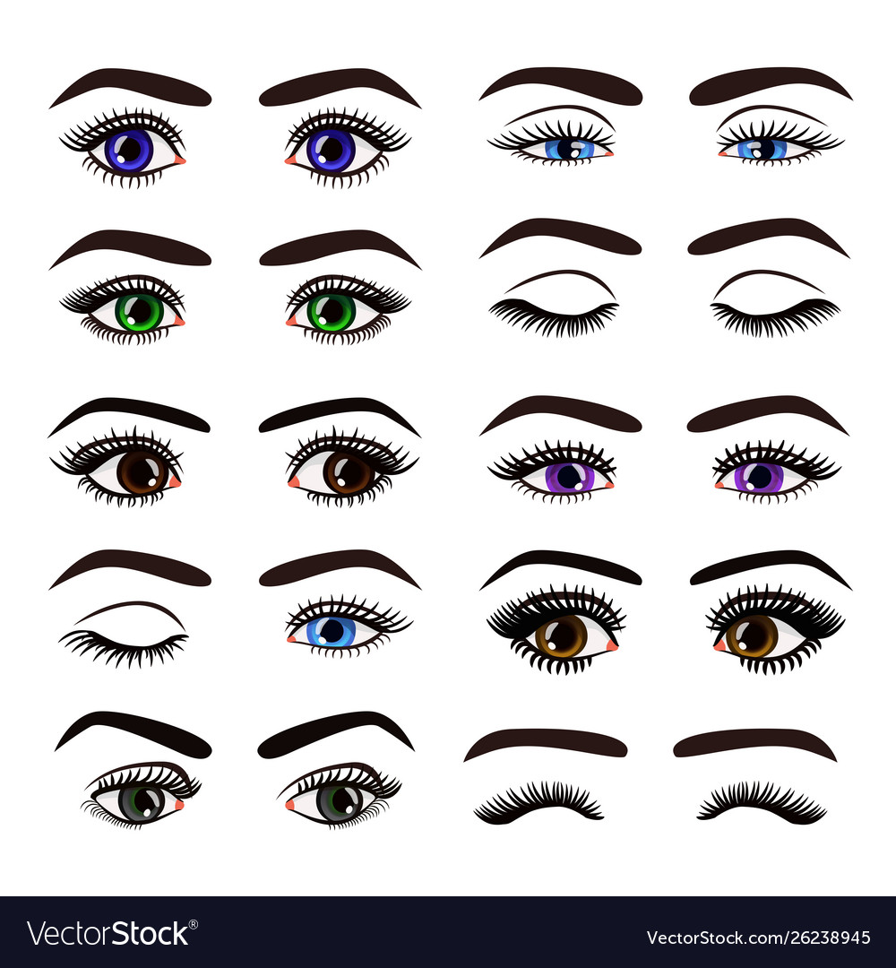 Beautiful female woman eyes