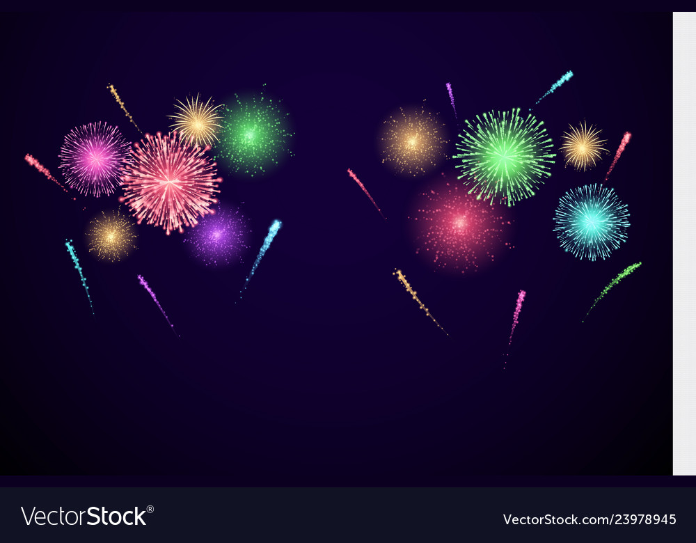 Colorful festival fireworks banner for diwali and