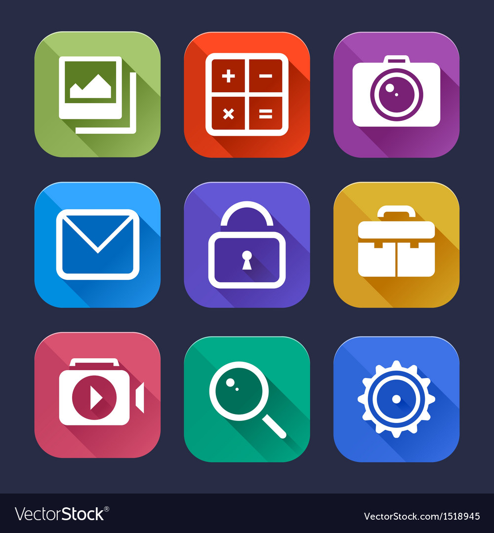 Flat App Icons Set