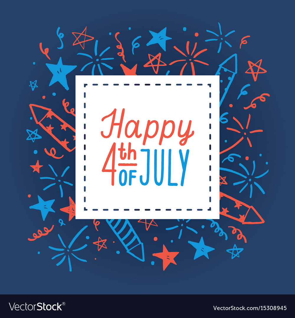 Happy fourth july card template