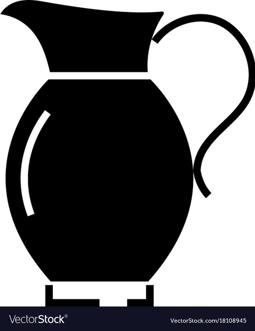 Jar icon black sign on vector image