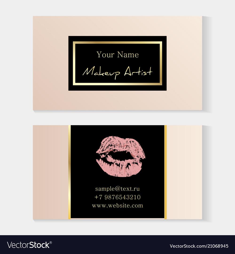 Makeup Artist Stylish Business Card