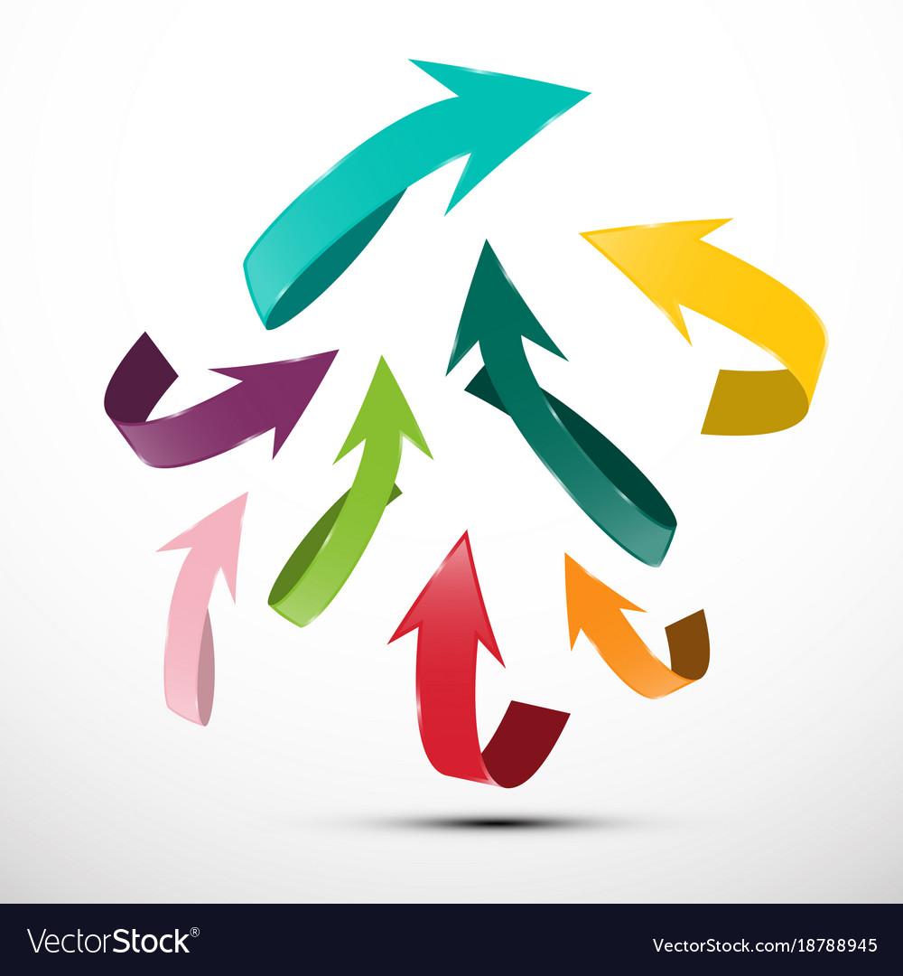 Paper cut arrows up arrow symbol