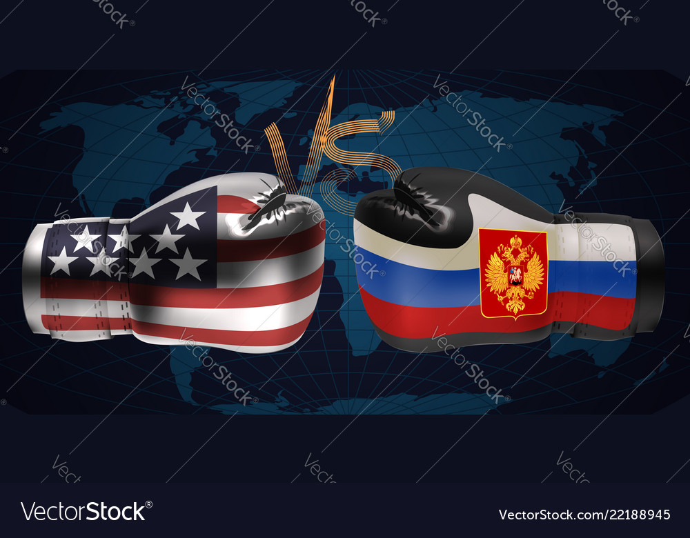 Realistic boxing gloves with prints of the usa