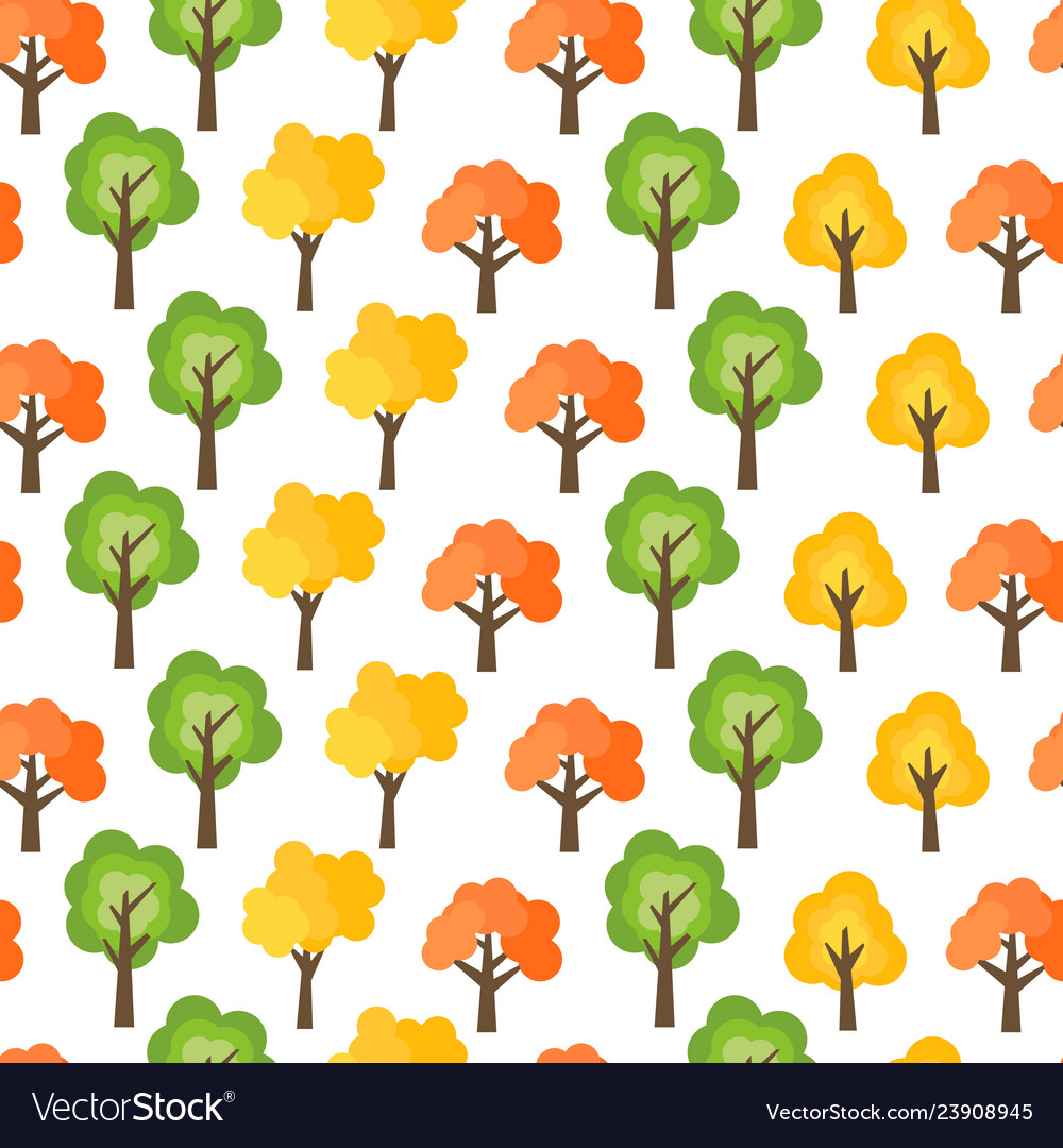 Seamless pattern from autumn trees