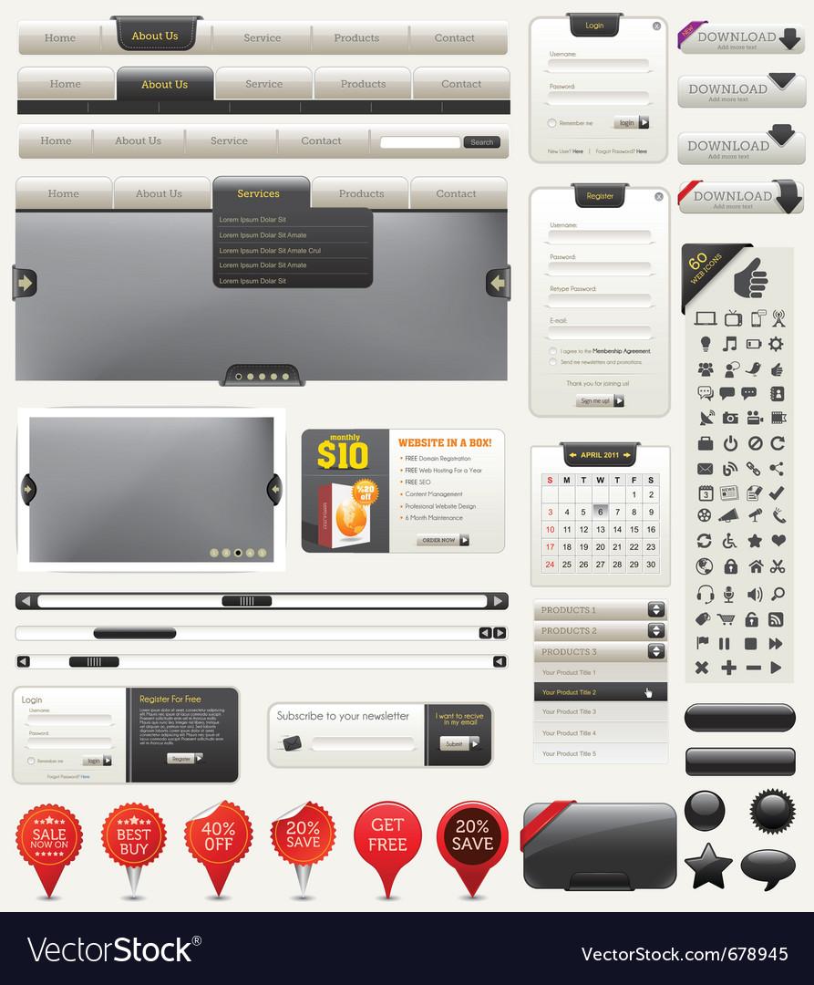Web design kit vector image