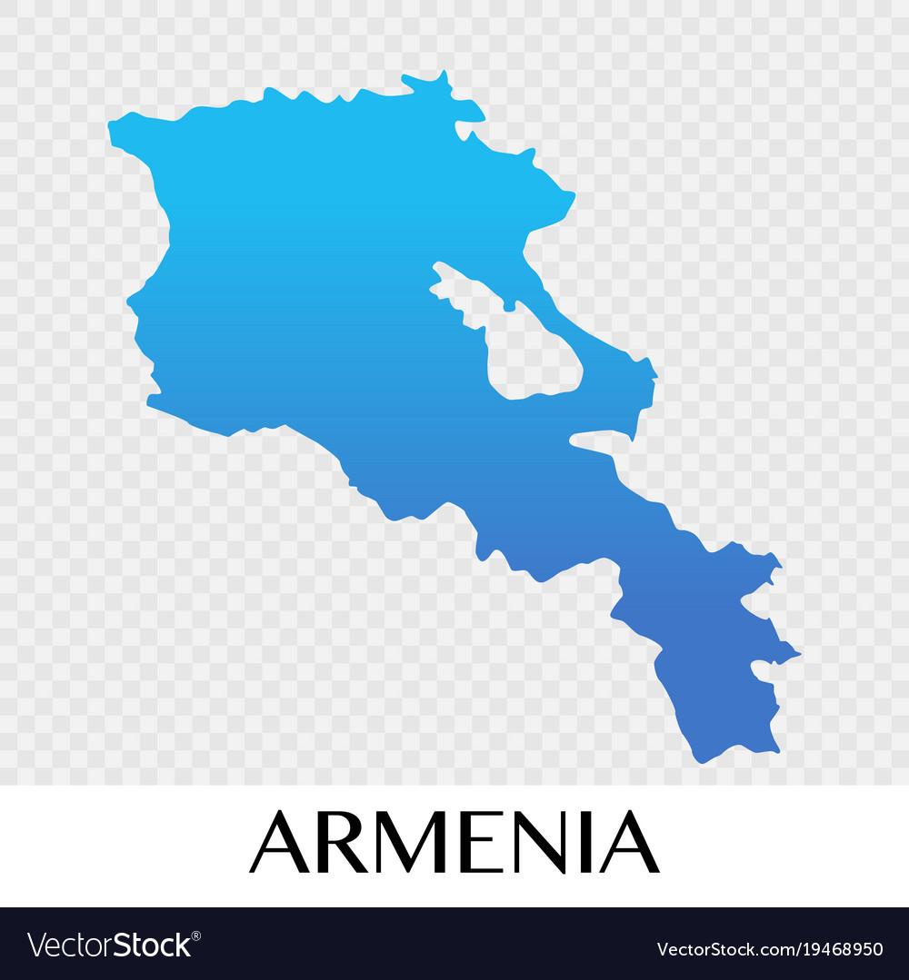 Armenia map in asia continent design