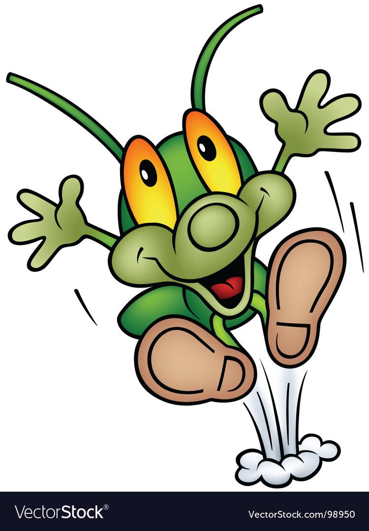 Cartoon bug vector image
