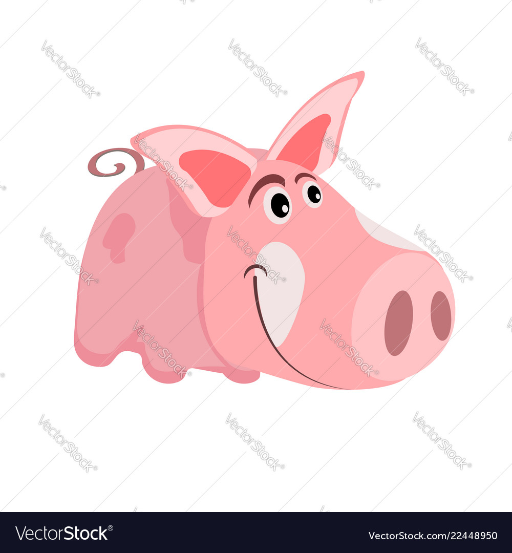 Image of a cartoon pink pig the symbol of the