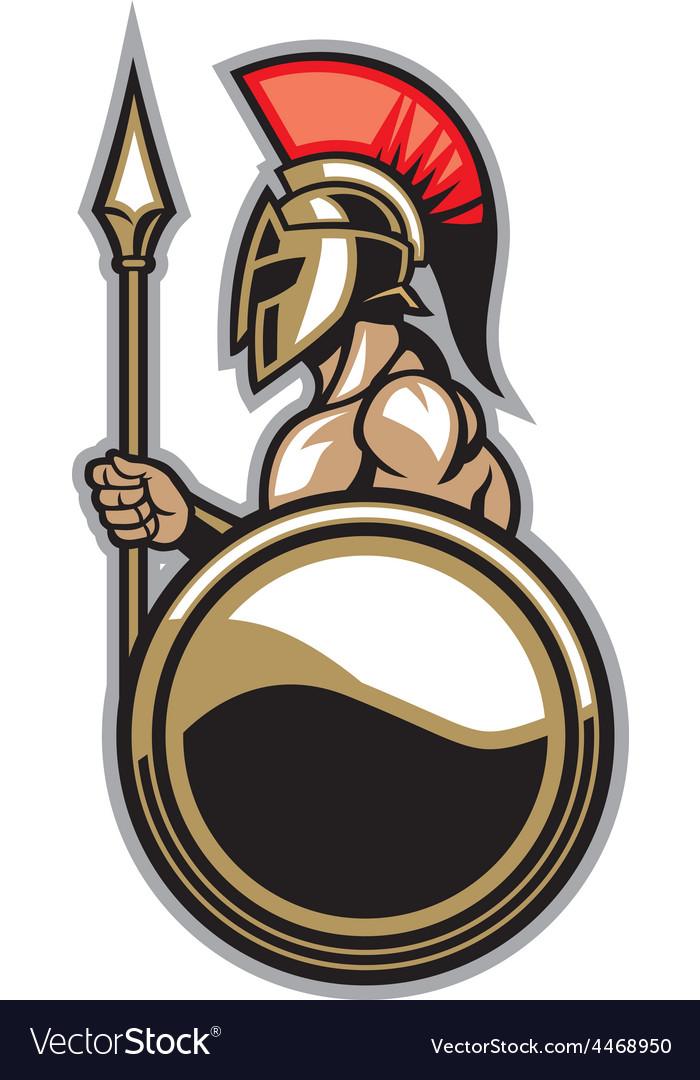 Spartan courage soldier vector image