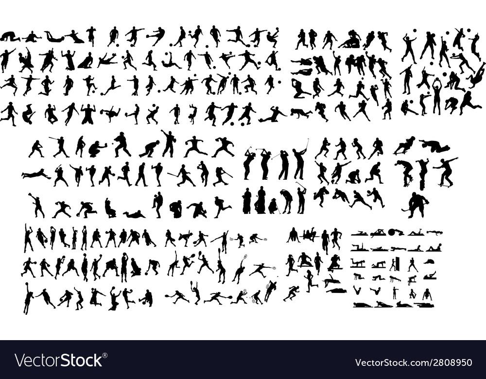 Sport Silhouette vector image
