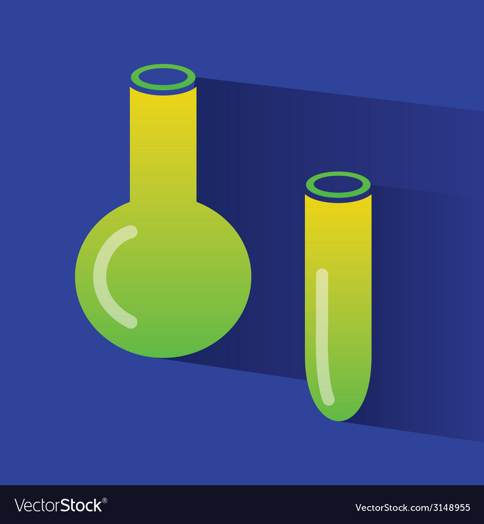 Abstract chemistry icons isolated on colored