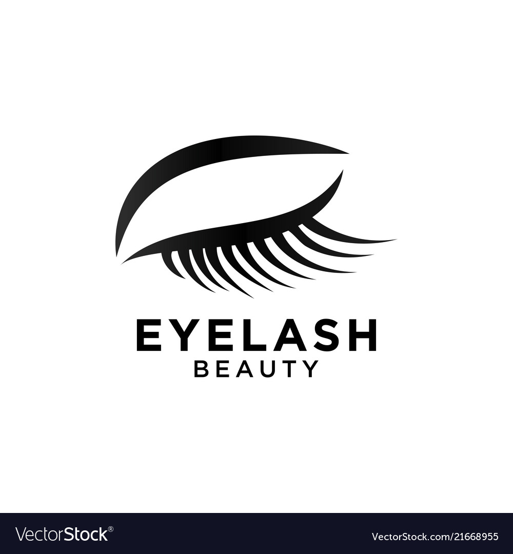 Beautiful eyelash symbol template