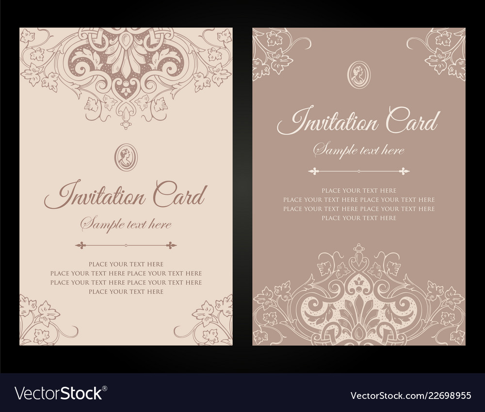 Invitation Card Luxury Template Design