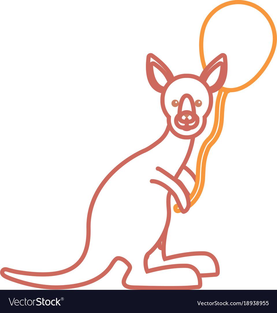 Kangaroo with balloon icon