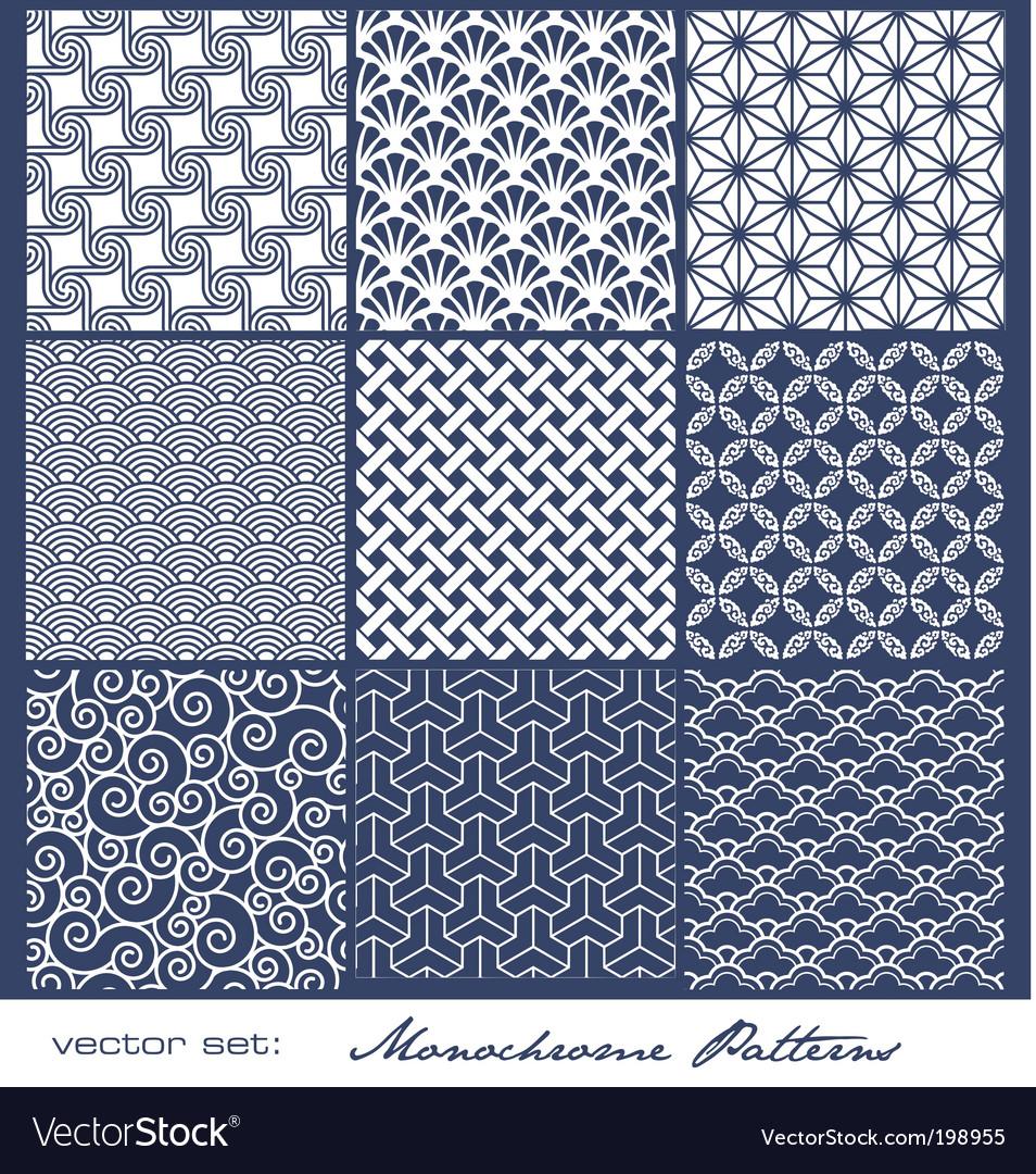 Monochrome tile patterns