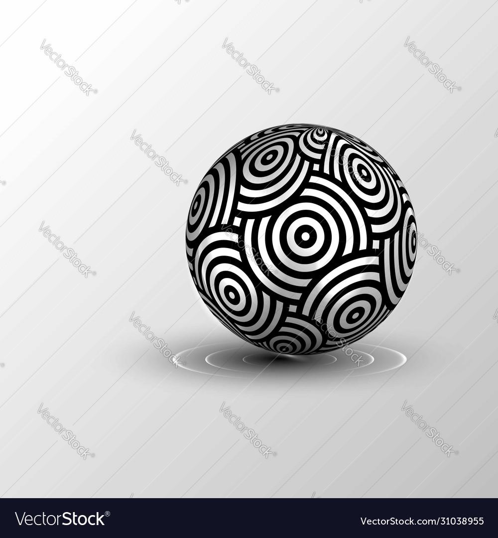 Repeating circles pattern 3d sphere logo design
