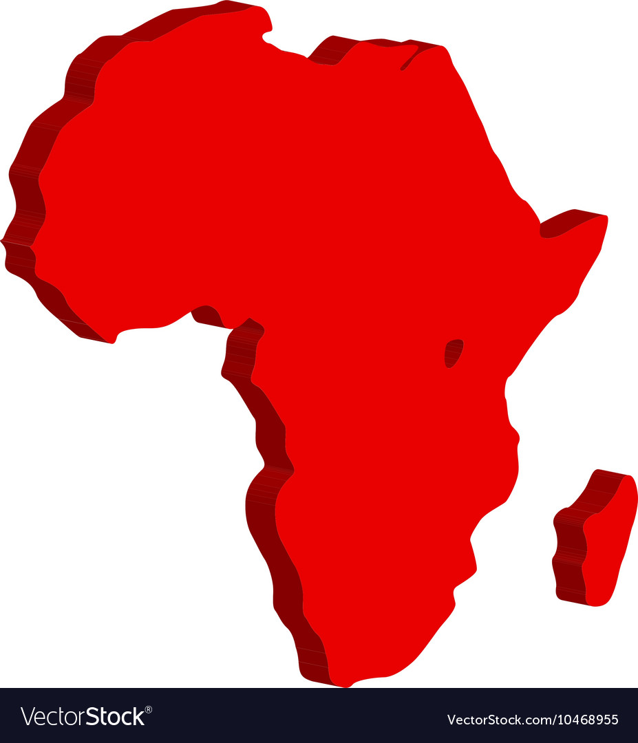 The African continent Bulk vector image