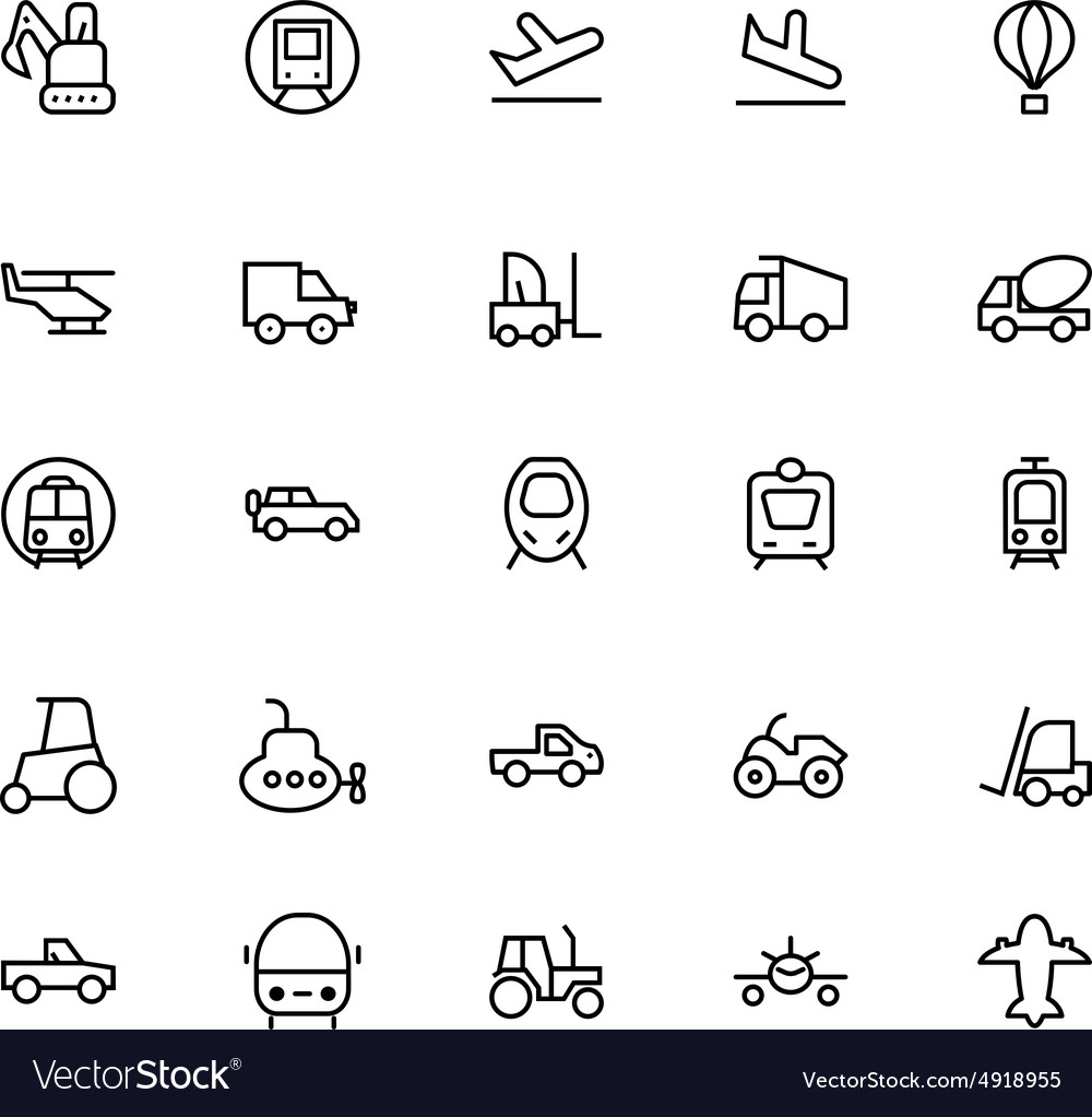 Transportation Icons 4 vector image