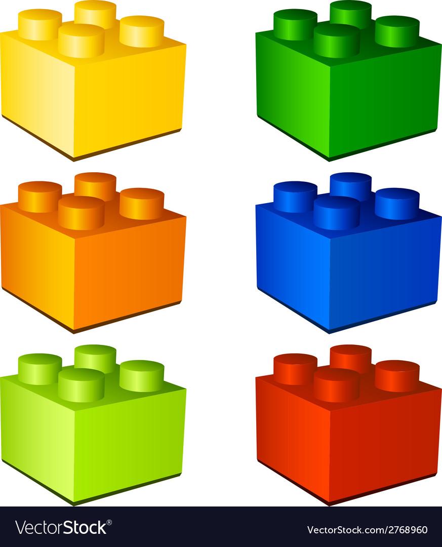 3d children plastic bricks toy