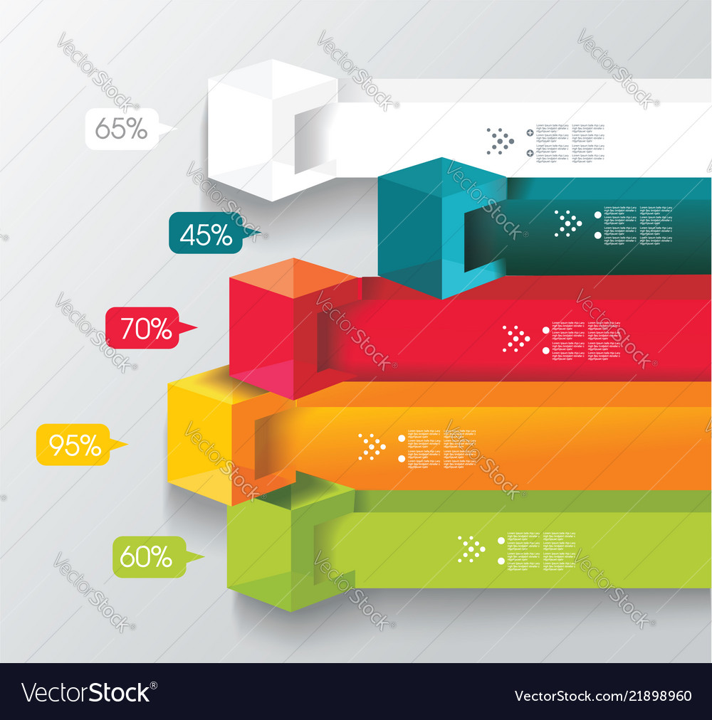 Abstract cubes and banners infographics with