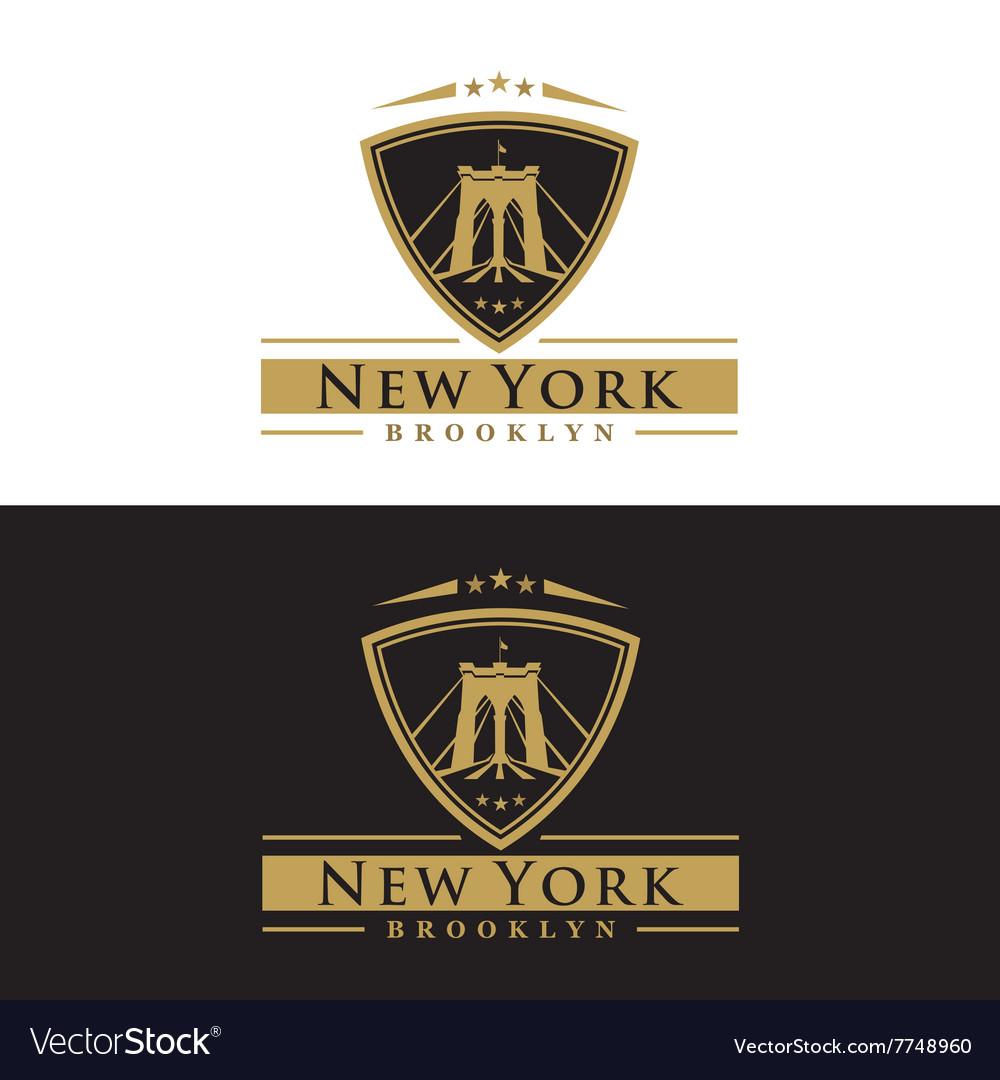 Brooklyn Bridge New York vector image