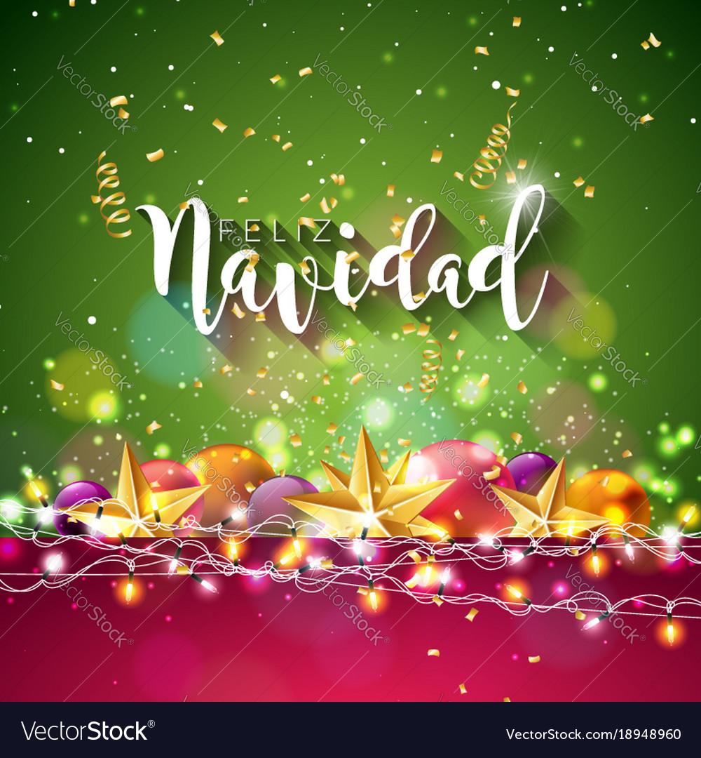 Christmas with spanish feliz navidad