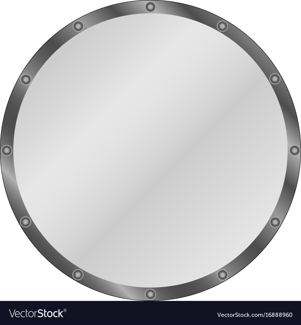 Circle shield vector image