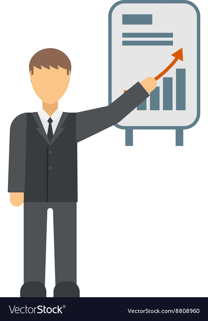 Growing chart graph icon business arrow