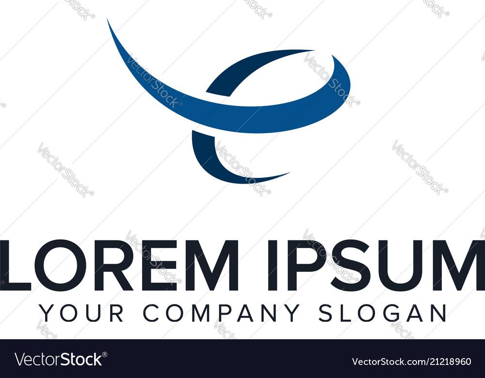 Letter e logo business finance design concept