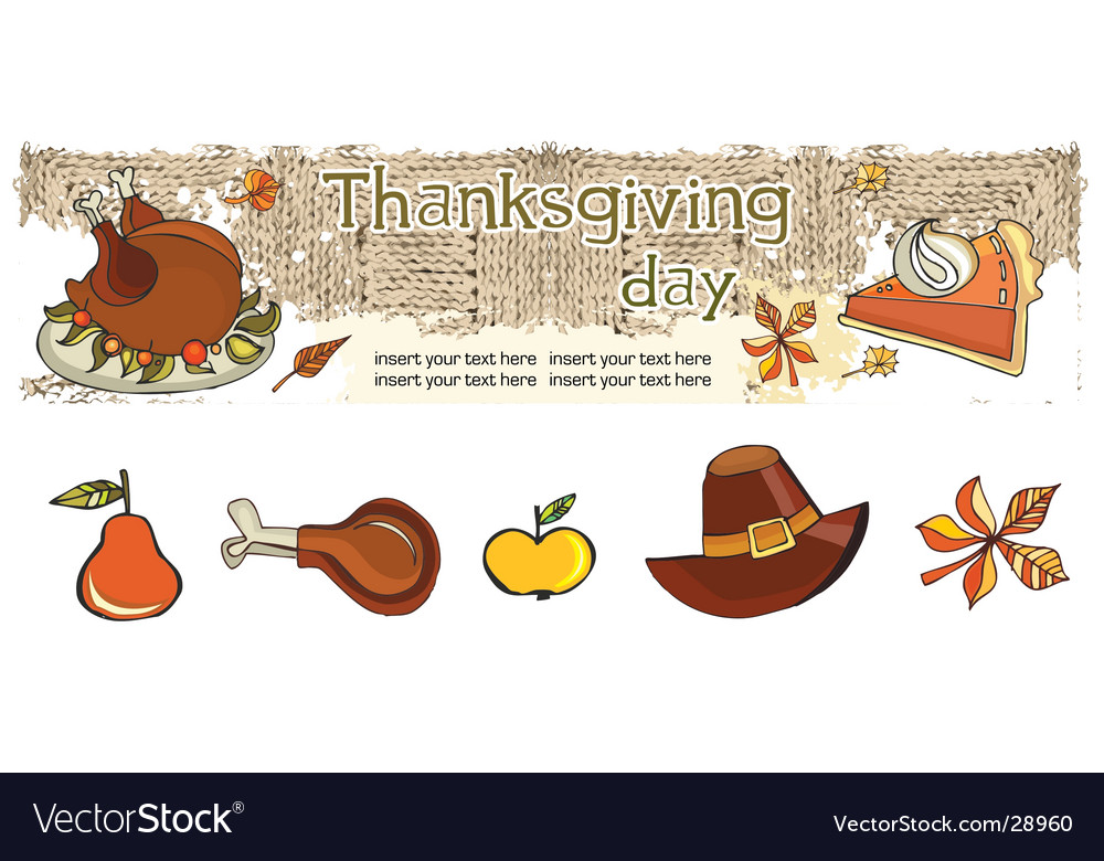 Thanksgiving banner and icons