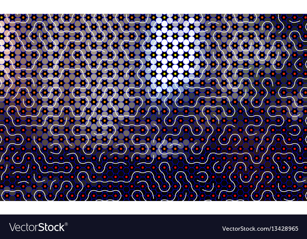 Abstract maze pattern background with waves