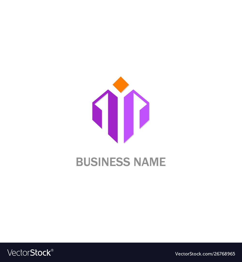 Abstract shape initial company logo