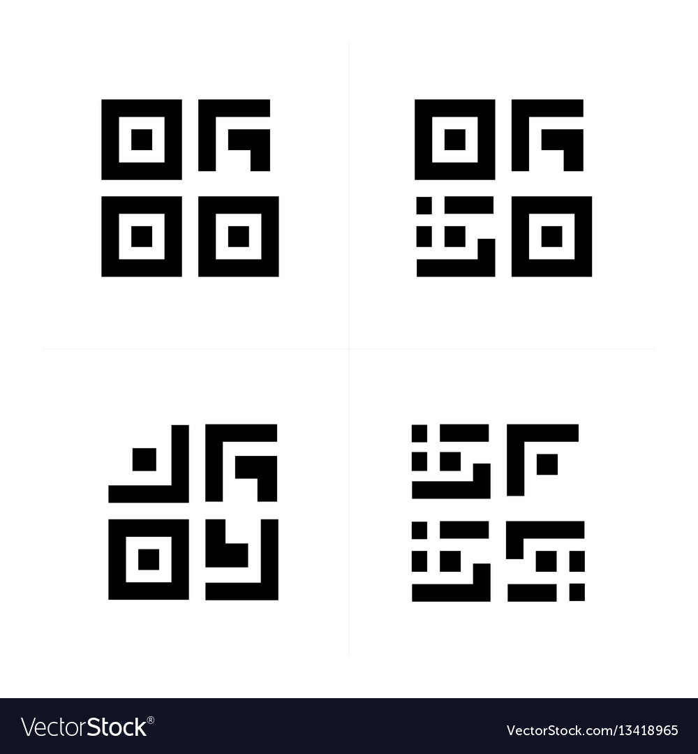Barcode and qr code design vector image