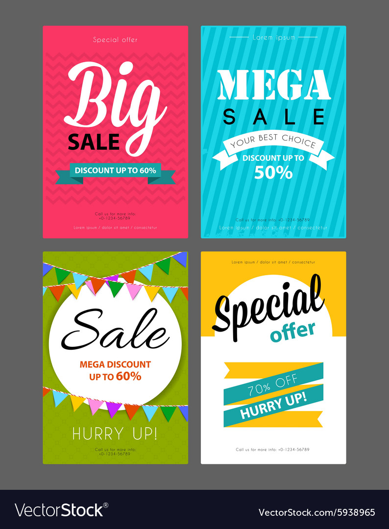 big sale flyers template royalty free vector image