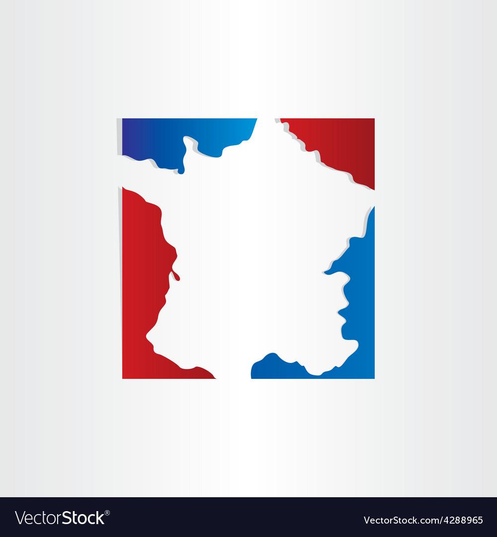 France map red blue design background