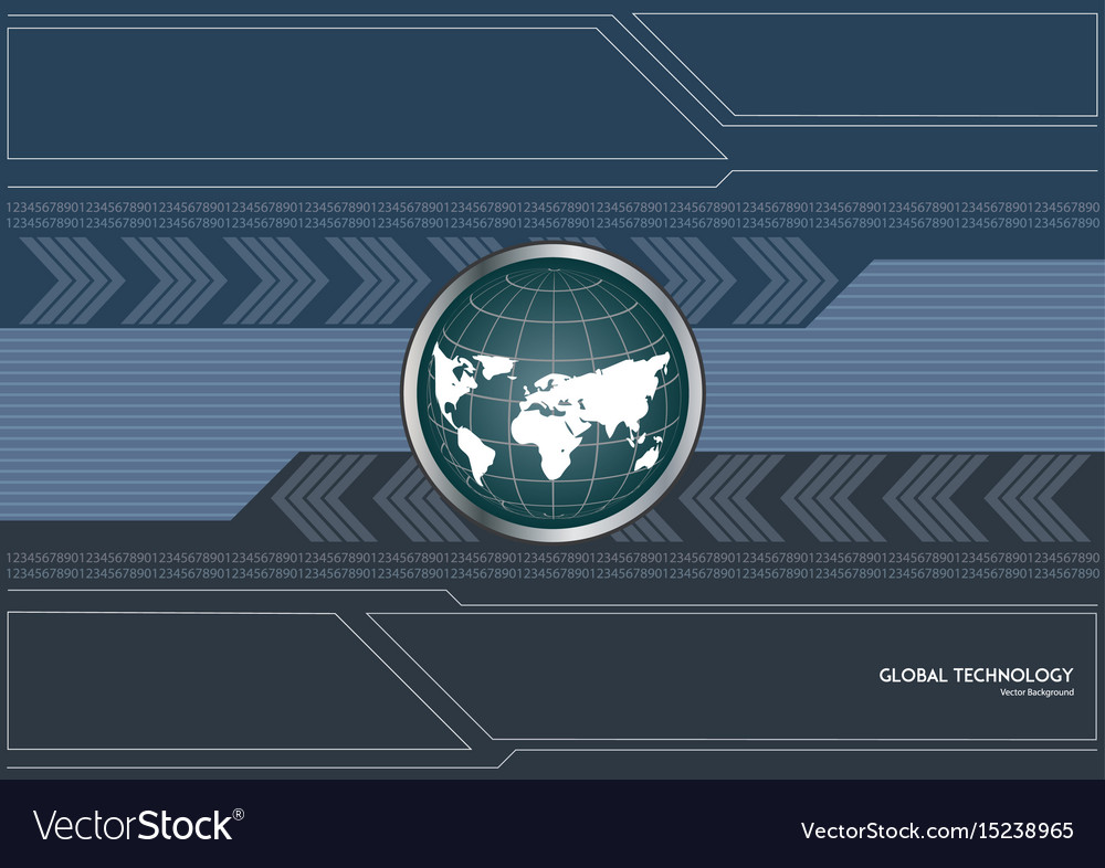 Global technology background concept vector image