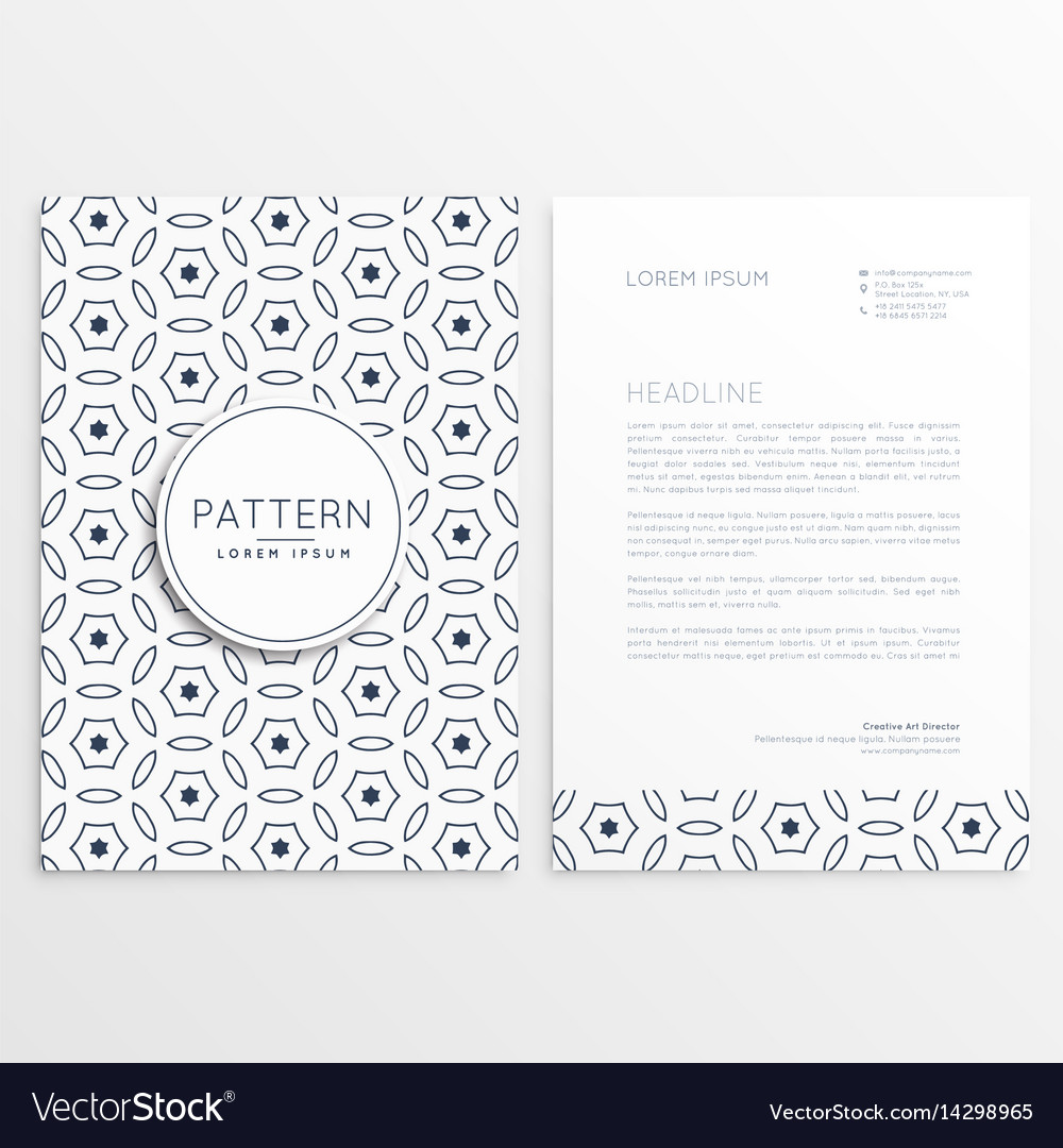 Minimal elegant letterhead design with front and