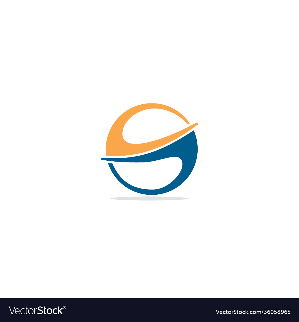 Round circle abstract colored logo