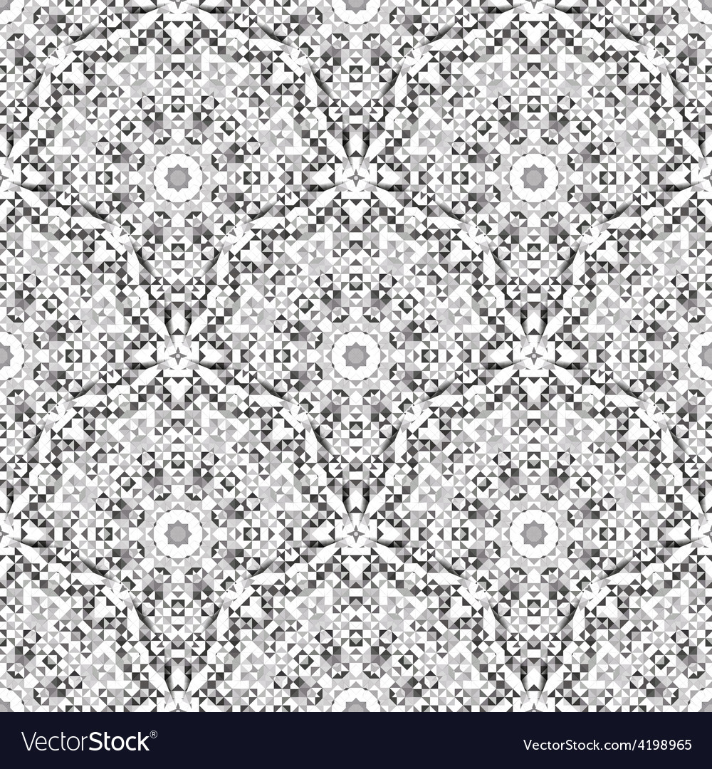 Vintage Wallpaper Background Mosaic Texture vector image
