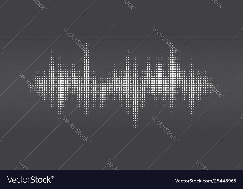 White halftone pattern audio waveform modern