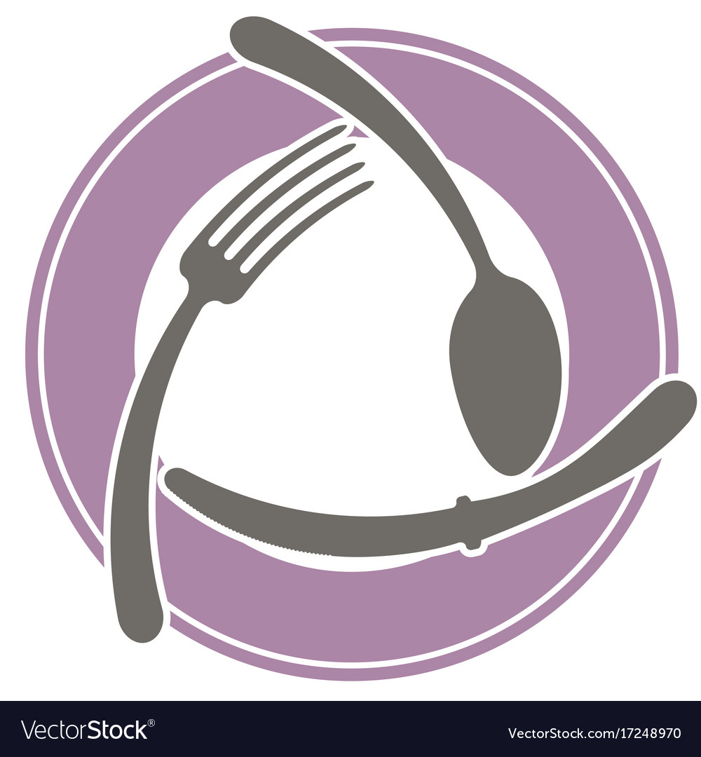 Abstract logo of a cafe or restaurant a spoon a